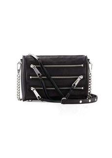 Rebecca Minkoff Mini 5-Zip Leather Crossbody Bag