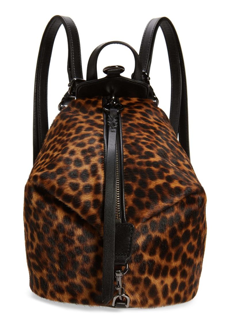 Rebecca Minkoff Mini Julian Leopard Print Genuine Calf Hair Convertible Backpack