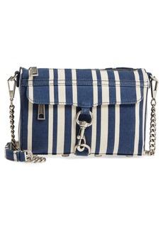 Rebecca Minkoff Mini MAC Stripe Canvas Convertible Crossbody Bag