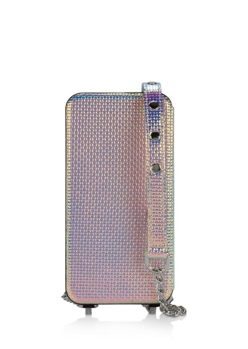 super popular 391b8 02606 Mirror Folio Chain Strap iPhone X Case