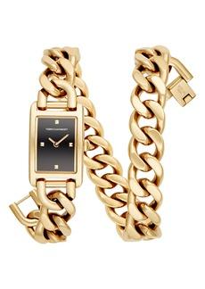 Rebecca Minkoff Moment Chain Wrap Bracelet Watch, 19mm x 30mm