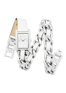 Rebecca Minkoff Moment Chain Wrap Bracelet Watch, 30mm