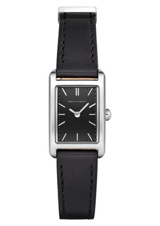 Rebecca Minkoff Moment Faux Leather Strap Watch, 19mm x 30mm