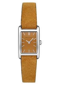 Rebecca Minkoff Moment Leather Strap Watch, 19mm x 30mm