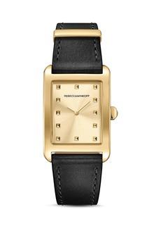 Rebecca Minkoff Moment Leather Watch, 26.5mm