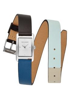 Rebecca Minkoff Moment Wrap Leather Strap Watch,