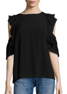 Rebecca Minkoff Monsoon Cold-Shoulder Ruffle Top