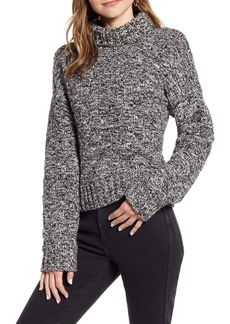Rebecca Minkoff Montana Marled Cotton Blend Turtleneck Seater