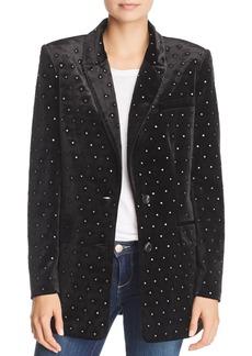 Rebecca Minkoff Morris Studded Velvet Blazer