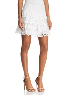 Rebecca Minkoff Nell Tiered Eyelet Mini Skirt
