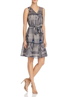 Rebecca Minkoff Nicky Printed Tassel-Tie Dress