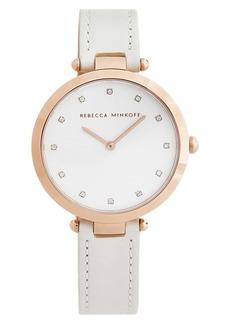 Rebecca Minkoff Nina Leather Strap Watch, 33mm