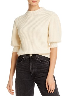 Rebecca Minkoff Olive Elbow Puff-Sleeve Sweater