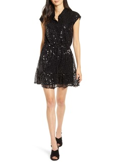 Rebecca Minkoff Ollie Cap Sleeve Sequin Minidress