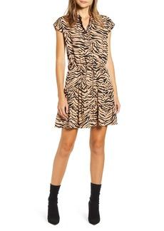 Rebecca Minkoff Ollie Zebra Print Minidress