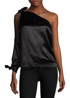 Rebecca Minkoff One-Shoulder Tie Blouse