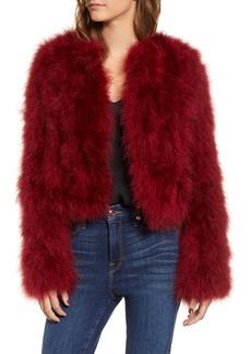 Rebecca Minkoff Pacha Genuine Turkey Feather Jacket