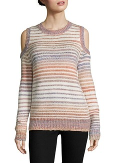 Rebecca Minkoff Page Cold Shoulder Space Dye Sweater