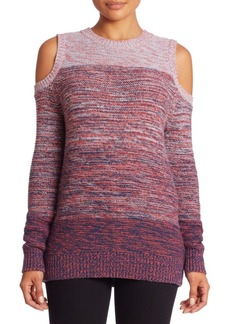 Rebecca Minkoff Page Wool Blend Cold Shoulder Sweater