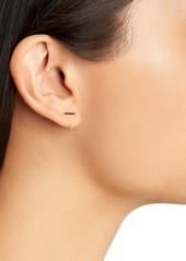 Rebecca Minkoff Pavé Baby Bar Threader Hoop Earrings
