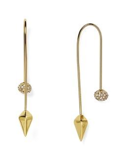 Rebecca Minkoff Pav� Ball Threader Earrings