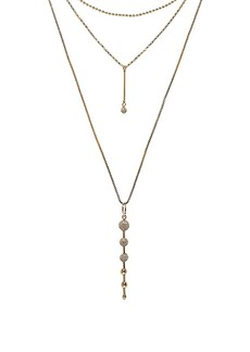 Rebecca Minkoff Pave Ball Layered Necklace