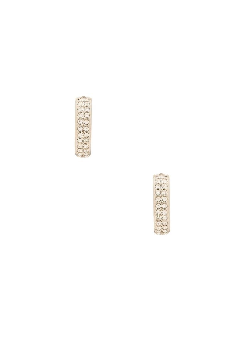 Rebecca Minkoff Pave Huggie Earring