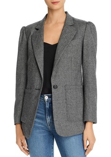 Rebecca Minkoff Pax One-Button Herringbone Blazer