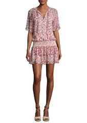 Rebecca Minkoff Pebble Floral-Print Drop-Waist Dress