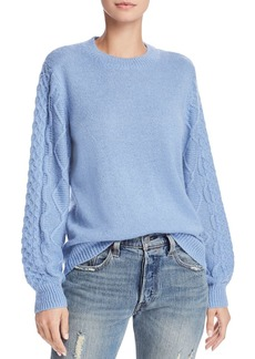 Rebecca Minkoff Penny Cable-Sleeve Sweater