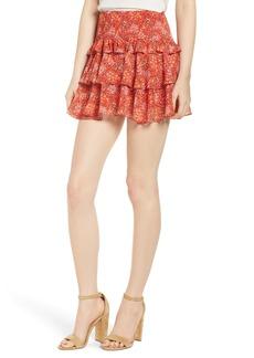 Rebecca Minkoff Phoebe Floral Tiered Miniskirt