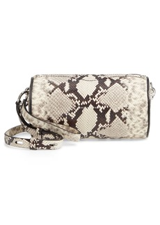 Rebecca Minkoff Python Embossed Leather Barrel Crossbody Bag