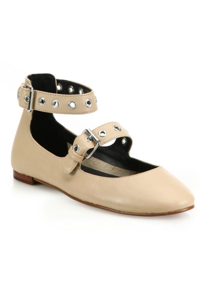 Rebecca Minkoff Rachel Leather Mary Jane Flats