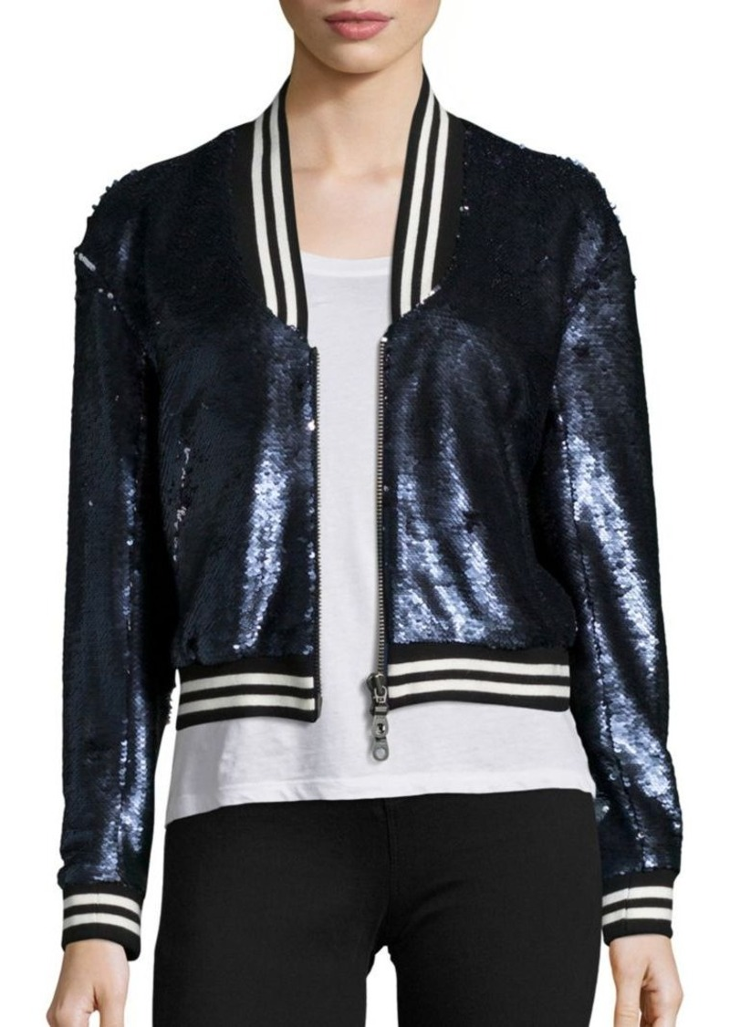 Rebecca Minkoff Raleigh Sequin Bomber Jacket