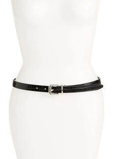 Rebecca Minkoff Reversible Leather Skinny Belt