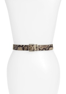 Rebecca Minkoff Reversible Python Embossed Leather Belt