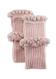 Rebecca Minkoff Ruffled Knit Fingerless Gloves