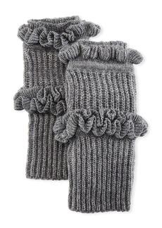 Rebecca Minkoff Ruffled Knit Fingerless Gloves