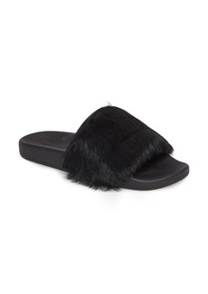 Rebecca Minkoff Sammi Genuine Fur Slide Sandal (Women)