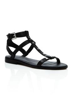 Rebecca Minkoff Sandy Studded Leather T Strap Sandals