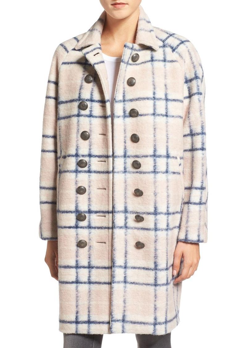 Rebecca Minkoff 'Santo' Double Breasted Wool Blend Coat