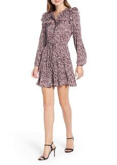 Rebecca Minkoff Selandra Disty Floral Ruffle Detail Dress