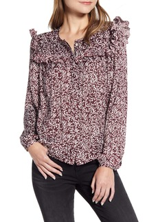 Rebecca Minkoff Selandra Ditsy Floral Ruffle Detail Blouse
