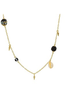 "Rebecca Minkoff Shell & Bead Necklace, 34"""