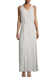 Rebecca Minkoff Simona Geometric-Print Maxi Dress