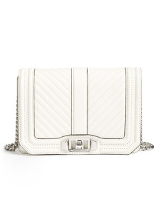 Rebecca Minkoff Small Love Chevron Quilted Leather Crossbody Bag
