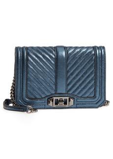 Rebecca Minkoff Small Love Metallic Leather Crossbody Bag