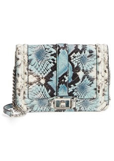 Rebecca Minkoff Small Love Snake Embossed Leather Crossbody Bag