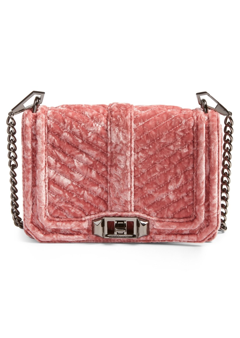 Rebecca Minkoff Small Love Velvet Crossbody Bag Nordstrom Exclusive