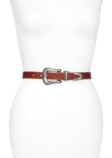 Rebecca Minkoff Smooth Ball Chain Leather Belt
